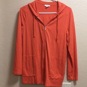 J.Jill Coral 3/4 sleeves zip up jacket size SP